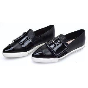 MIU MIU   Patent Leather buckle shoes